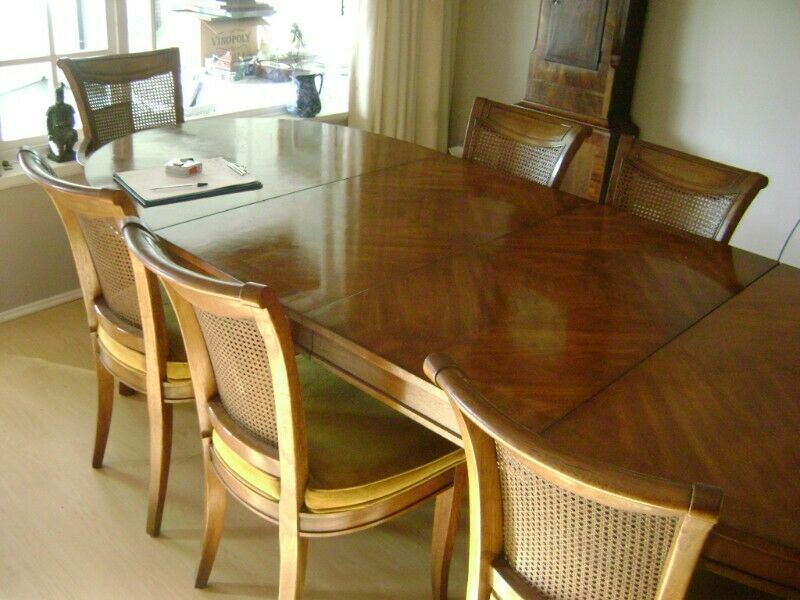 American Walnut 8 Seater Dining Room Table