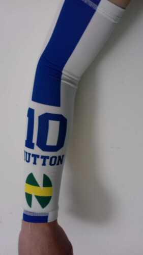 Coppia Manicotti NEW TEAM HUTTON Calcio Running Basket Volley Ciclismo Azzurro