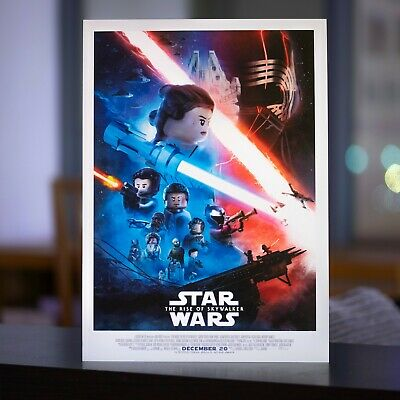 Lego Star Wars The Rise Of Skywalker Poster A3 Ebay