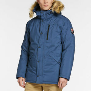 Dettagli su TIMBERLAND MEN'S SCAR RIDGE EXPEDITION WATERPROOF PARKA A1MZF BLUE ALL SIZES
