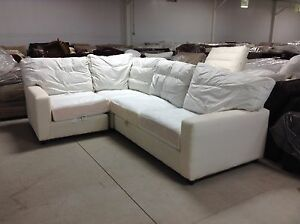 Pottery Barn Square Arm Slipcovered Comfort Sectional Sofa
