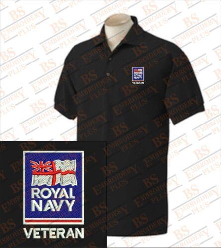 Royal Navy Veterans Embroidered Polo Shirts