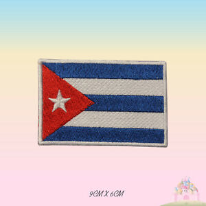 Cuba National Flag Embroidered Iron On Patch Sew On Badge Applique