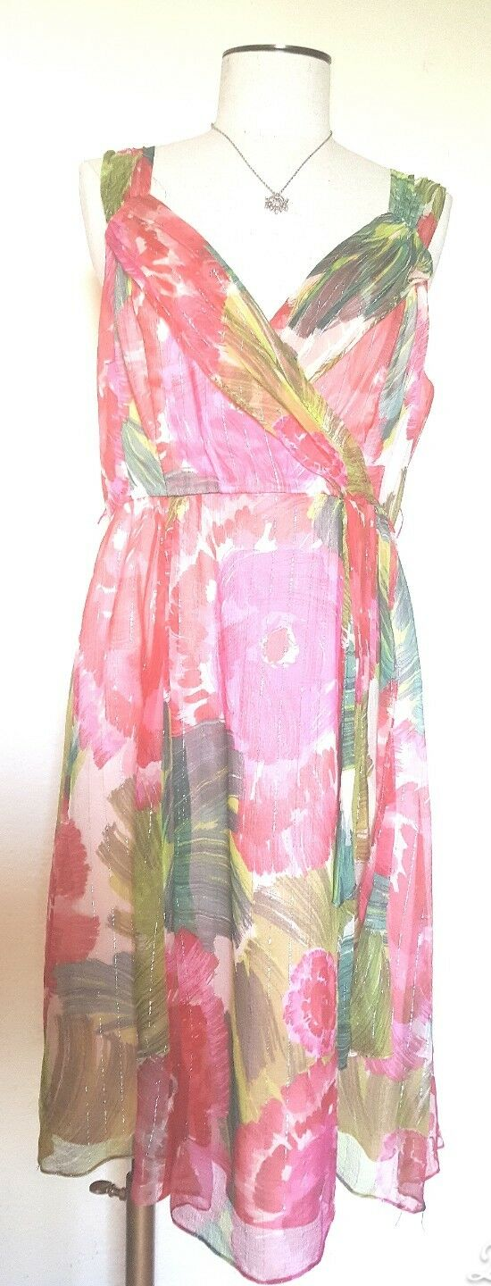 Nanette Lepore Floral Sleeveless Dress Size 12