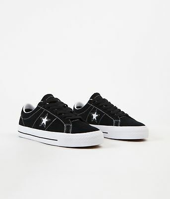 Cons Shoes One Star Pro Low Black White White Suede Converse Skateboard Sneakers | eBay