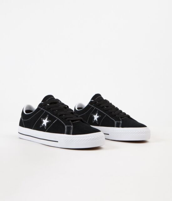 Cons Shoes One Star Pro Low Black White White Suede Converse Skateboard Sneakers