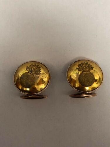 Antique russian military cufflinks