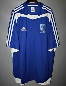 brand new 09eec 7abdd Details about GREECE NATIONAL TEAM 2004 2006 HOME FOOTBALL SHIRT JERSEY  ADIDAS WINNERS EURO