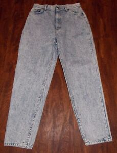 Women-039-s-Vintage-Lee-Denim-Jeans-Sz-14M-Classic-Rise-Tapered-Leg-Stonewashed