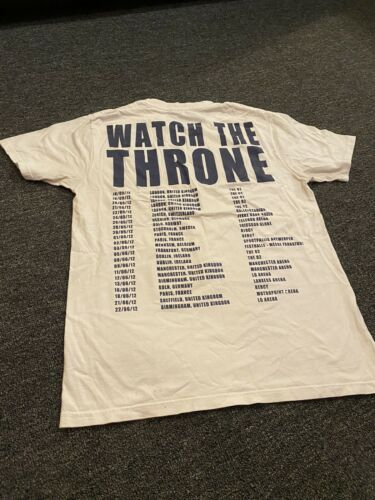 Kanye West Jay Z Watch The Throne UK Tour Shirt M… - image 1