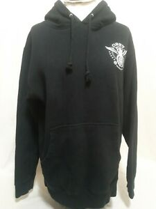 OBEY-Peace-amp-Justice-Hoodie-Sweater-Black-Mens-Size-Small-S-EUC