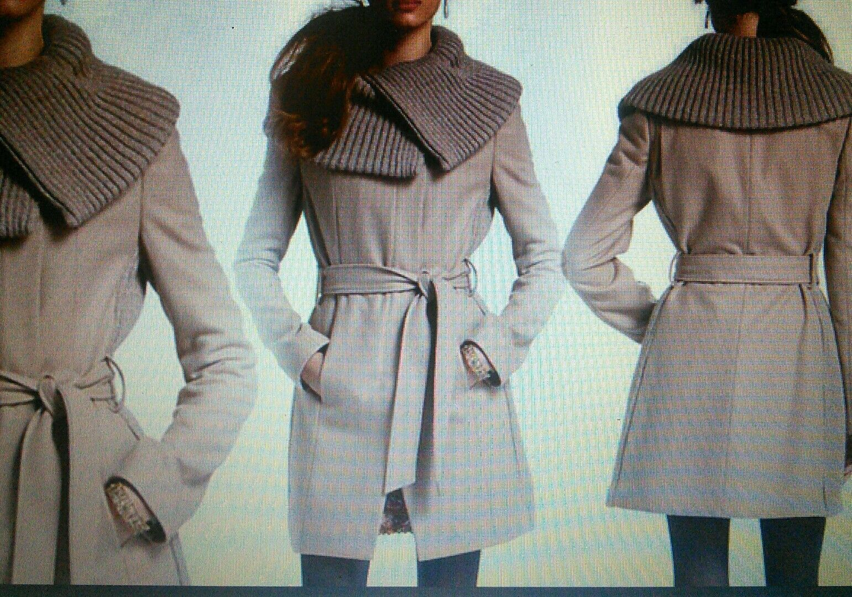 Anthropologie judith collar coat, size 4