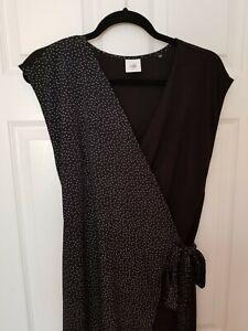 Cabi-2019-Spring-Disco-Dress-Size-Medium-Style-5609-Black-White-Wrap-Excellent