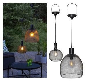 LED Solar Draht Hängelampe Drahtgeflecht Ø 19 / 29 cm inkl. Filament 5/10 Lumen