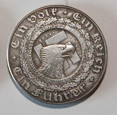 1933 Hitler WW2 Exonumia Coin Germany