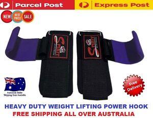 WEIGHT LIFTING POWER HOOKS POWER GRIPS WRIST SUPPORT BAR STRAPS GYM HOOK GLOVE1