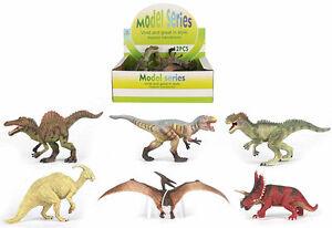 6pcs/lot High Quality Detailed Plastic Dinosaurs Parasaurolophus Spinosaurus