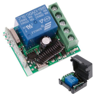 Details about DC 12V 1 Ch 433MHz Wireless Relay RF Remote Control Switch  Heterodyne Receiver