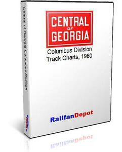 central of georgia track chart columbus division 1960 pdf on cd