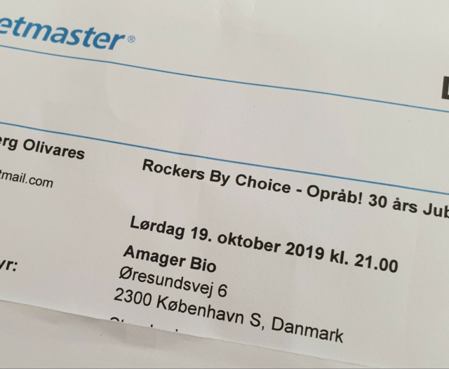 Rockers by Choice, Koncert, Amager Bio, d. 19-10-2019,…