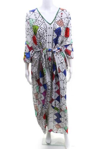 Chufy Womens Long Sleeve V-Neck Maxi Shift Dress W