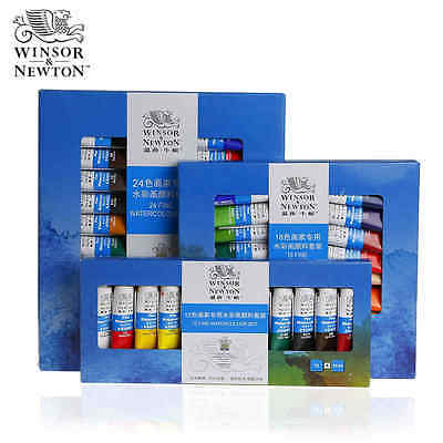 Winsor&Newton Artist Grade Transparent Watercolor Paint Set 12/18/24 Colors Sets