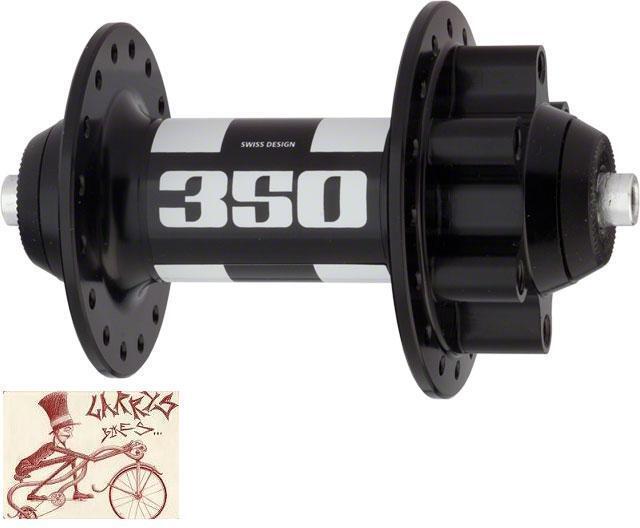 DT SWISS 350 -- 32H -- liberación rápida AXLE-6 Tornillos Disco Buje Delantero Negro