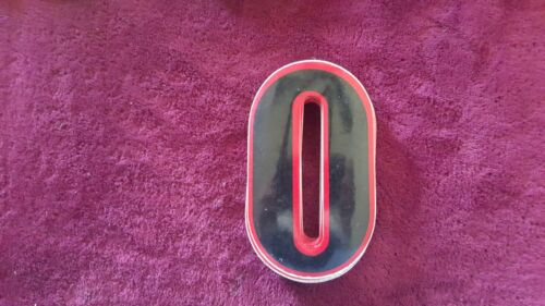 NOS OLD SCHOOL BMX HARO STYLE NUMBER 0 PLATE DECAL STICKER VINTAGE