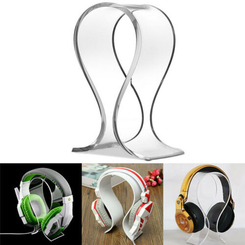 Acrylic Earphone Headset Desk Display Stand Hanger Holder For Headphone EC