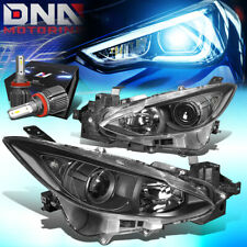 For 2014 2016 Mazda 3 Projector Headlight Lamps Withled Kitcool Fan Blackclear Fits Mazda 3