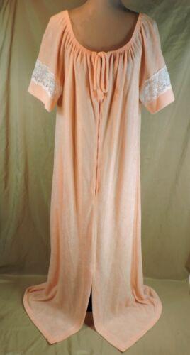 Women's VTG PEACH long robe TERRY CLOTH House Dres