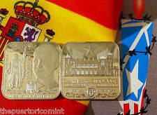 Medalla 100 años CASA DE ESPAÑA PUERTO RICO 2014 Homenaje Rey Felipe VI 1/100