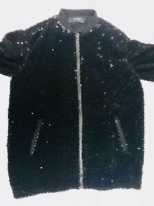 aviateur paillettes en velours ᄄᄂ RareBlouson Zara noir EWDYH29I