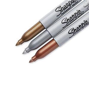 Sharpie-Metallic-Fine-Point-Bullet-Tip-Permanent-Marker-Pens-Gold-Silver-Bronze