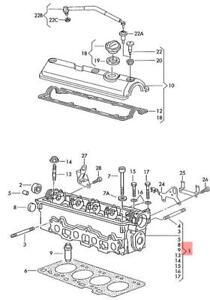 Genuine-VW-Cylinder-Head-With-Valves-Camshaft-NOS-VW-SEAT-SKODA-032103265BX