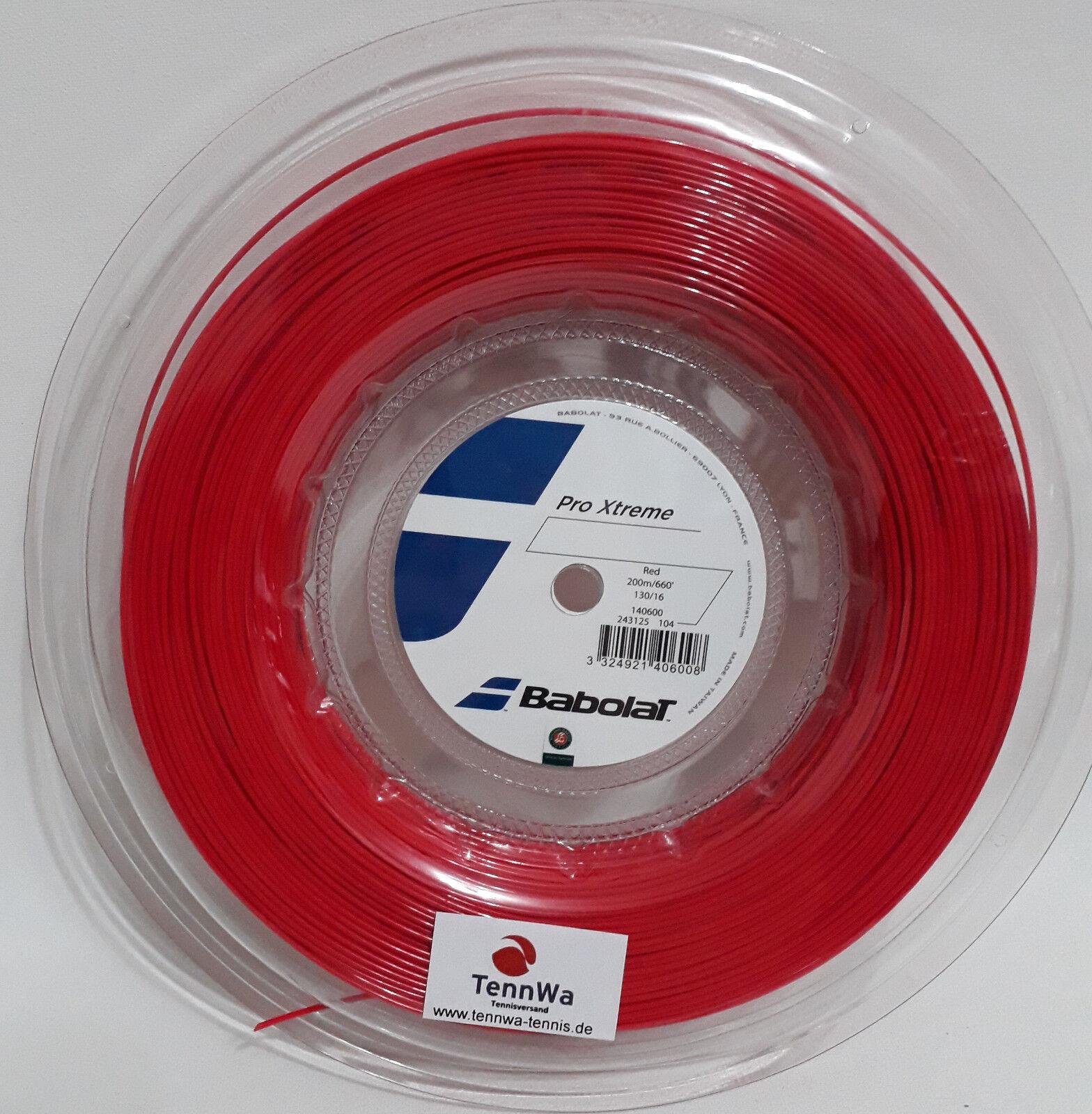 200m ( lfd.m) Babolat Pro Xtreme RED Tennissaite - Für Power-Spieler
