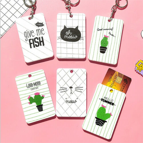 Women Cover Bag Kids Cartoon Animal ID Card Passport Holder Case Key Bags Z
