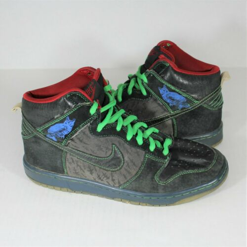 Nike Sb Dunk High Twin Peaks 313171 006 Mens 8.5 O