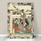 "Beautiful Japanese GEISHA Art ~ CANVAS PRINT 24x16"" Yamashiro River Sadacage #3"