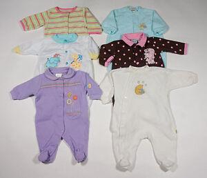 Baby Girls 0 3m 3 M Sleepers Lot 6 Pj S Pajamas Footed