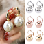 Simple-Silver-Gold-Rose-Gold-Drop-Earrings-Women-Round-Ball-Earring-Jewelry-Gift thumbnail 3