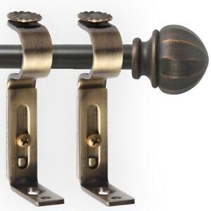 Image Is Loading 2x Adjule Curtain Rod Holder Hardware Wall Hooks