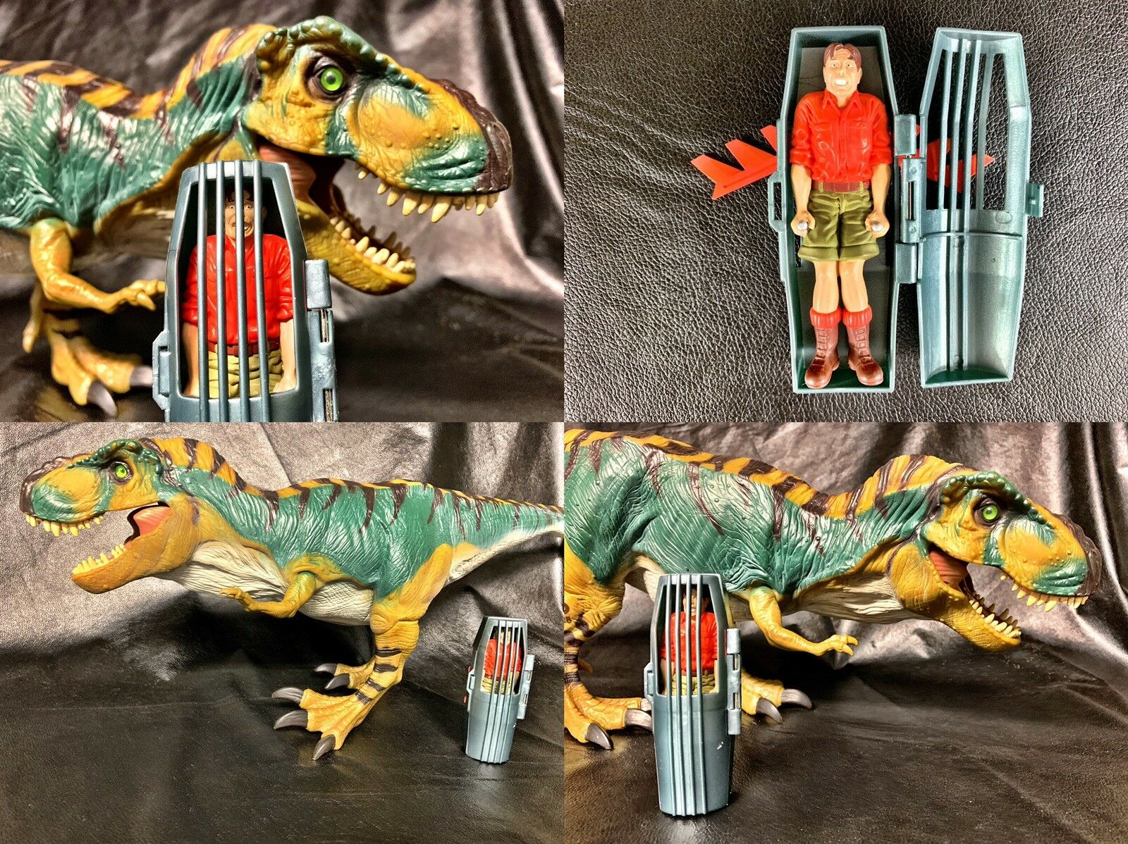 1997 KENNER JURASSIC PARK LOST WORLD BULL T-REX 100% COMPLETE WORKING VINTAGE