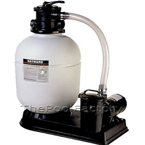 Hayward s180t above ground swimming pool sand filter system with 1 5 hp pump ebay for Swimming pool filter and pump systems