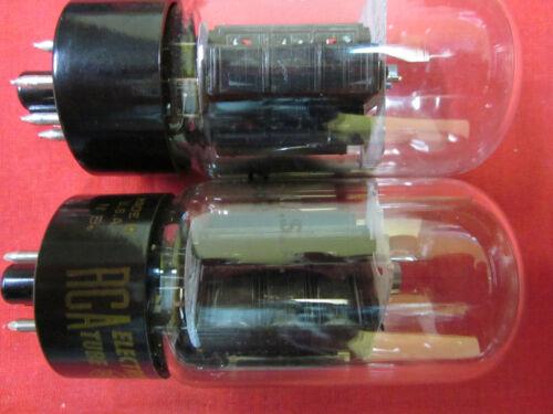 Pre tested excellent on Hickok TV-3 NOS ONE NEW RCA 6AV5GA Black Plate tube