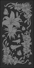 Mitchell Rub-on Glass etch (ottica come sabbiato) arco di trasferimento 11,7 x 23 cm