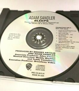 Adam-Sandler-Bleeps-Promo-CD-1996-Radio-amp-In-Store-Play-Cuts-Cleaned-up-Versions