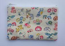 Cath Kidston Forest Animals Fabric Handmade Zippy Coin Purse Storage Pouch