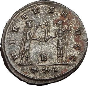CARINUS-as-CAESAR-receives-Globe-from-NUMERIAN-Antioch-Ancient-Roman-Coin-i65453
