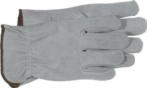Boss Manufacturing Company 4065L GlovesUnlined Split Leather Gloves, Large, Gray